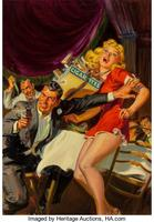 Enigma of the Talkative Wraith, 10 Story Detective pulp magazine cover