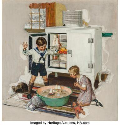 Among the Ice Cubes, General Electric refridgerator advertisement